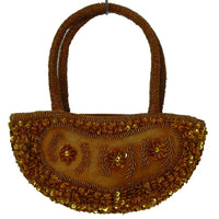Women's Handbags - Top Handle Hand Bags From Beads And Sequins,