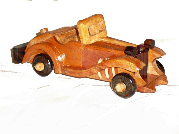 Wooden Car Ornament Coupe