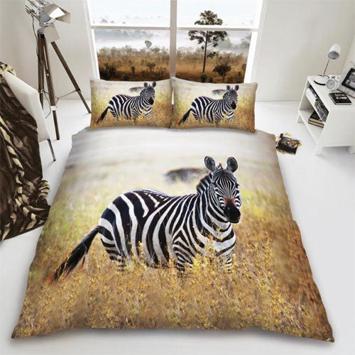 Animal print duvet set Zebra (single)