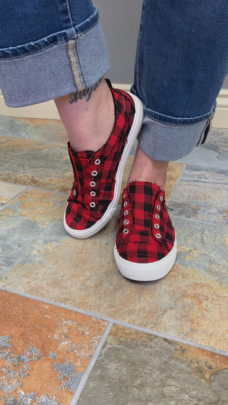 Corkys Babalu Sneaker in Buffalo Plaid Video