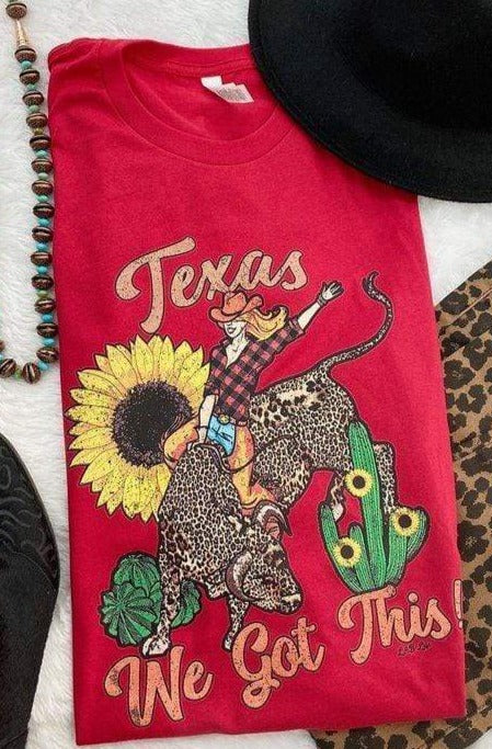 Clothing Texas We Got This Graphic Tee in Red A.T.G. Exclusives