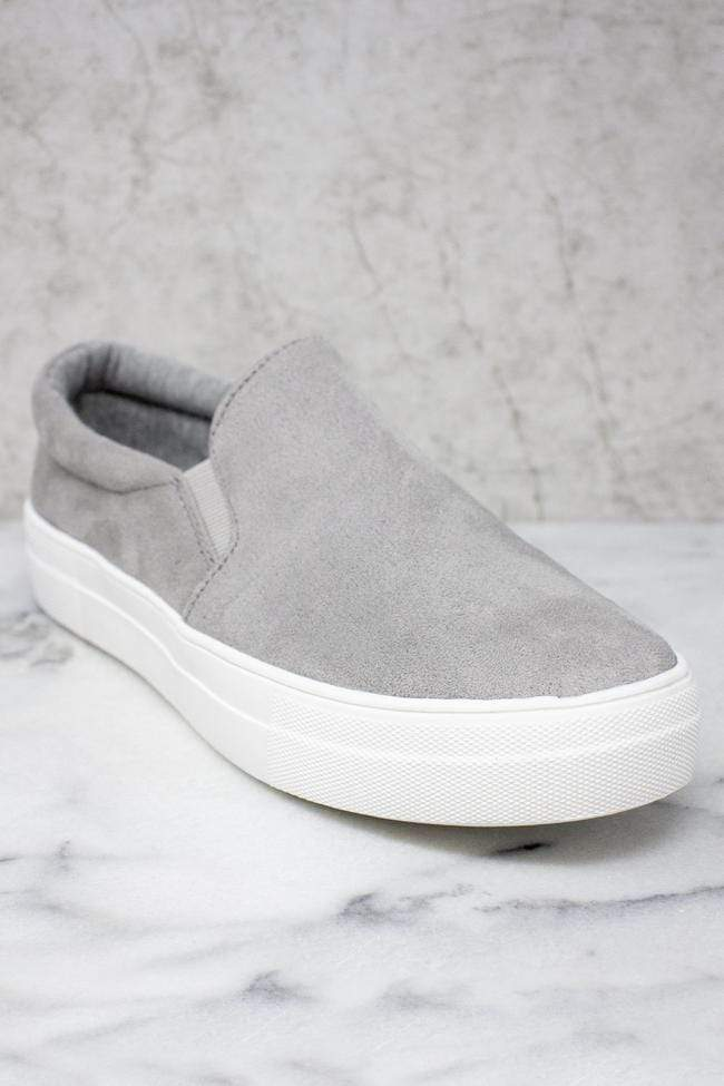 Slip Into Style Slip On Sneakers - Grey Boutique Simplified