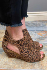 Shoes Corkys Sunburst II Wedge in Leopard 7 Corkys Footwear