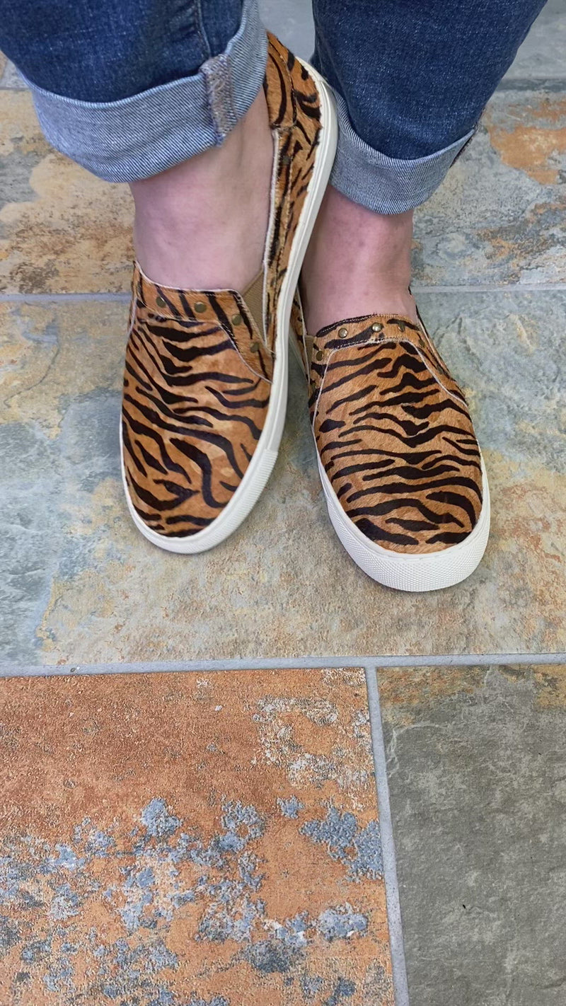 Corkys Pine Top Cowhide Sneaker in Tiger Video