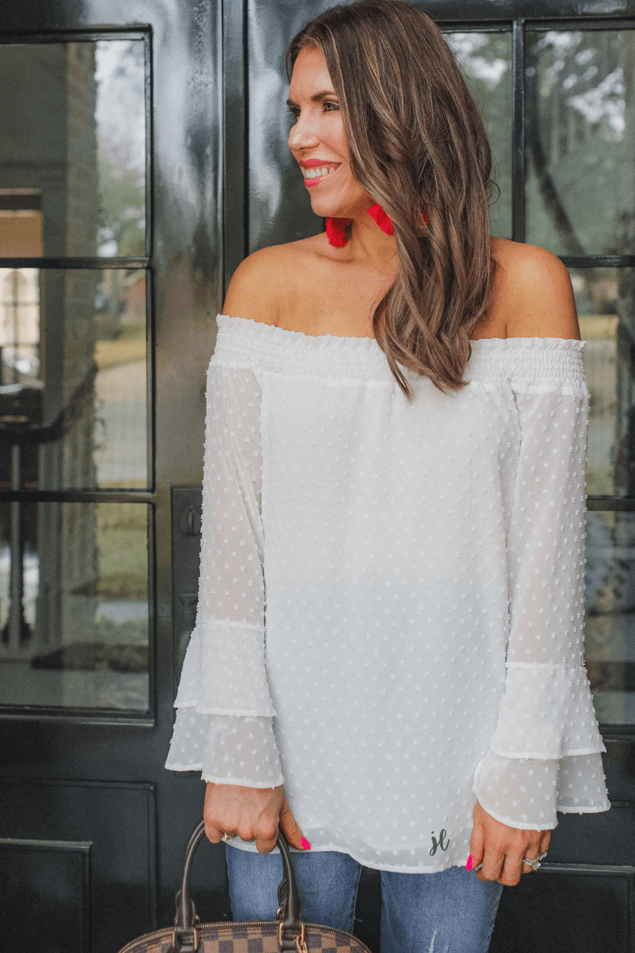 Clothing Sweet Caroline Off Shoulder Top Small Jess Lee