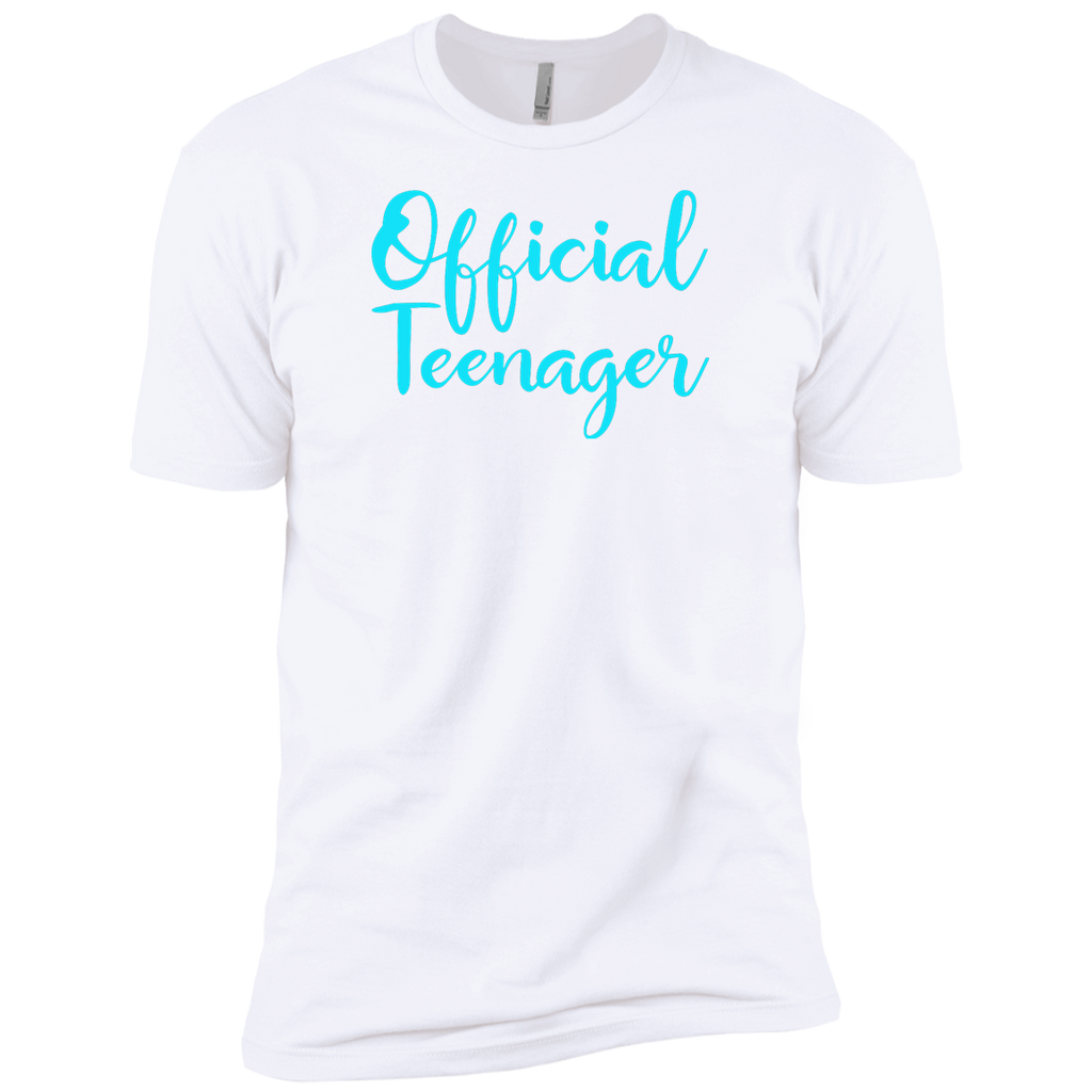 Official Teenager 13 13th Birthday Gift Idea Party Shirt Next Level Premium Short Sleeve Tee