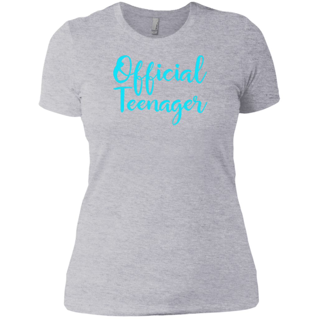 Official Teenager 13 13th Birthday Gift Idea Party Shirt Next Level Ladies Boyfriend