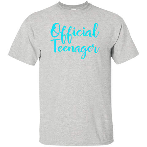 Official Teenager 13 13th Birthday Gift Idea Party Shirt Custom Ultra Cotton T
