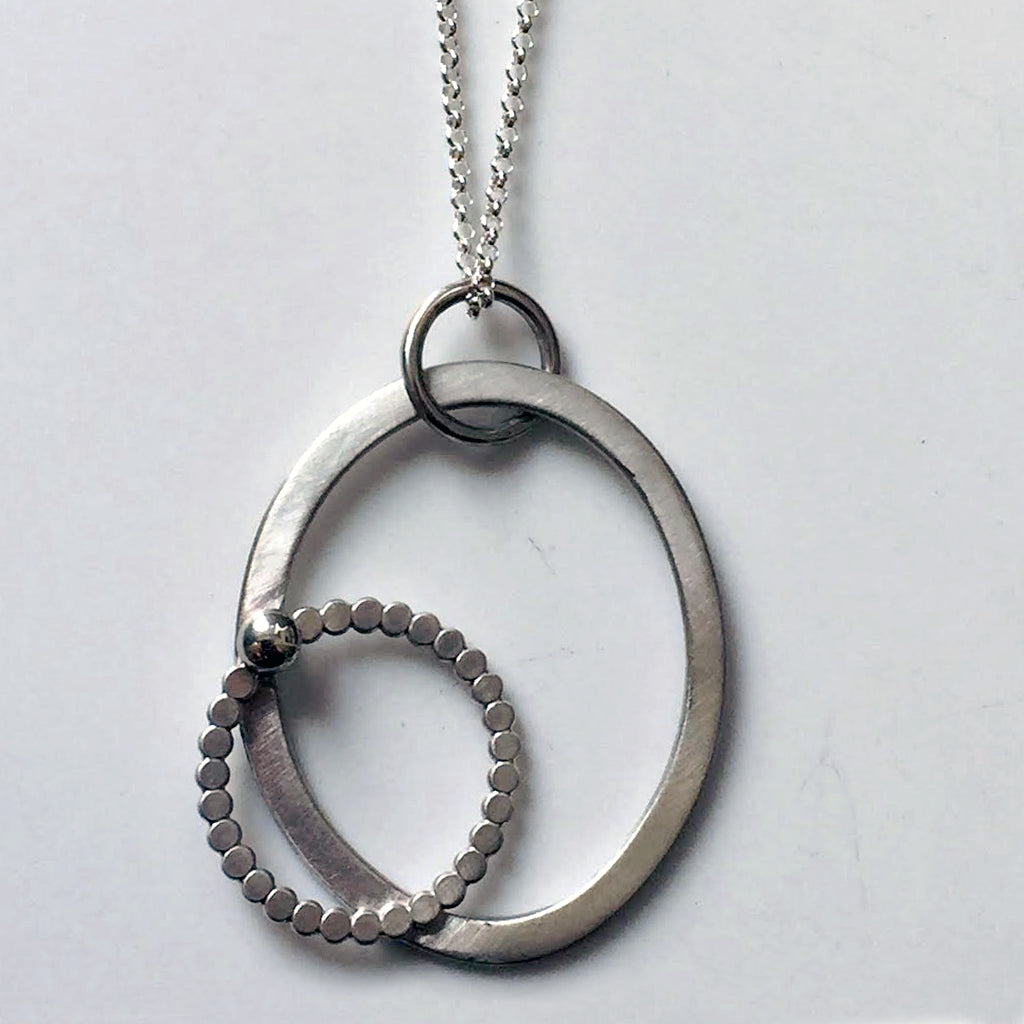 Pebble and silver necklace large 14ten designs pebble and silver necklace large aloadofball Image collections