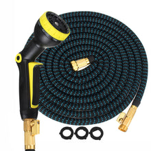 Load image into Gallery viewer, Expandable Garden/Water Hose - Heavy Duty Triple Latex Core, Solid Brass Connectors and Extra Strength Fabric