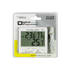 "Load image into Gallery viewer, DC103 3"" LCD Digital Indoor / Outdoor Thermometer Hygrometer"