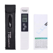 Load image into Gallery viewer, White EC/TDS Digital Meter