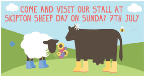 We're at Skipton Sheep Day on Sunday