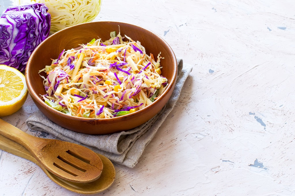 Winter Slaw With Cider Mustard Dressing