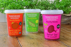 Warming winter soup sampling from Yorkshire Provender