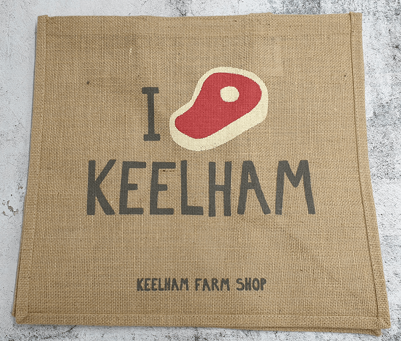 Keelham Jute Bag For Life - Steak design