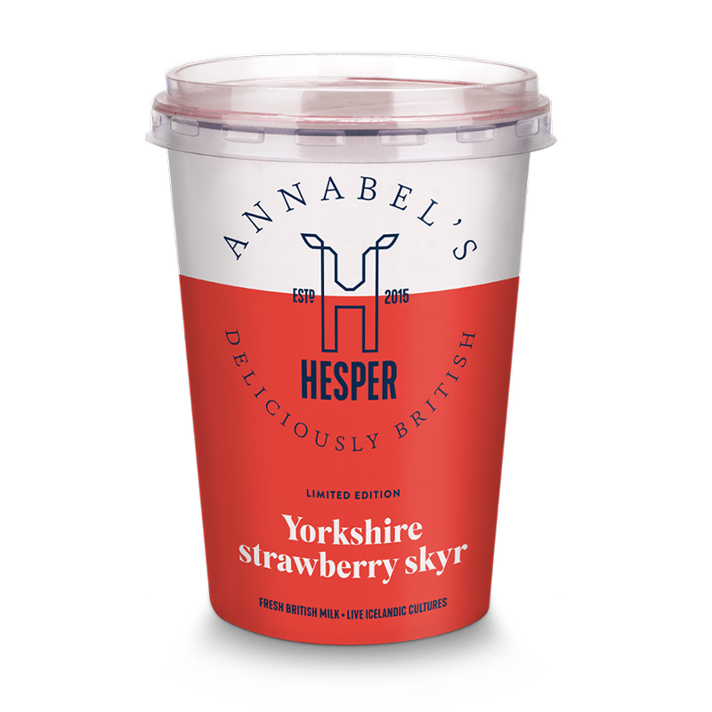 Hesper Farm Skyr Yogurt - Annabel's Limited Edition Yorkshire Strawberry 450g