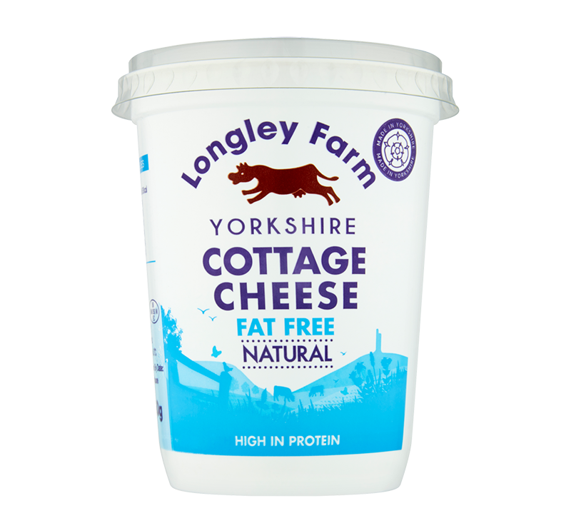 Longley Farm - Fat Free Cottage Cheese 450g
