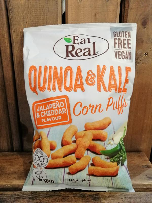 Eat Real Quinoa Kale Puffs Jalapeno Cheddar 113g