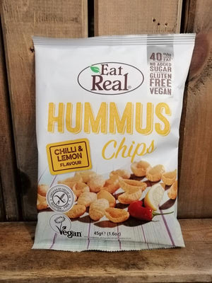 Load image into Gallery viewer, Eat Real Hummus Chips Chilli & Lemon 45g