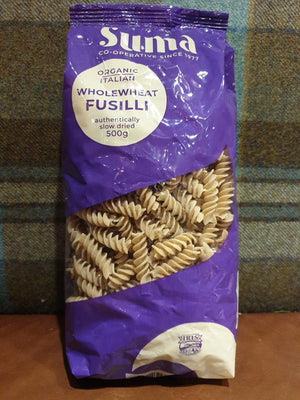 Load image into Gallery viewer, Suma Wholewheat Fusilli 500g