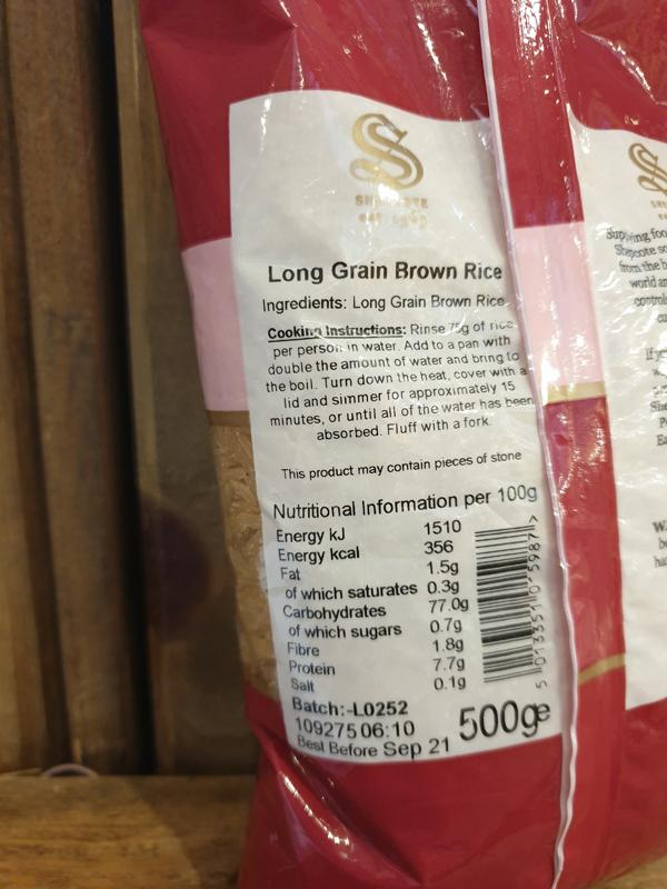 Load image into Gallery viewer, Long Grain Brown Rice 500g