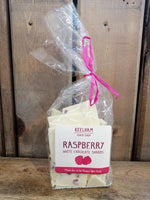 Guppy's White Chocolate Shards Raspberry 150g