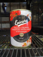 Epicure - Chopped Tomatoes with Garlic 400g
