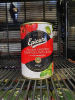 Epicure - Italian Chopped Tomatoes with Basil 400g