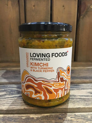 Load image into Gallery viewer, Loving Foods Turmeric & Black Pepper Kimchi 500g