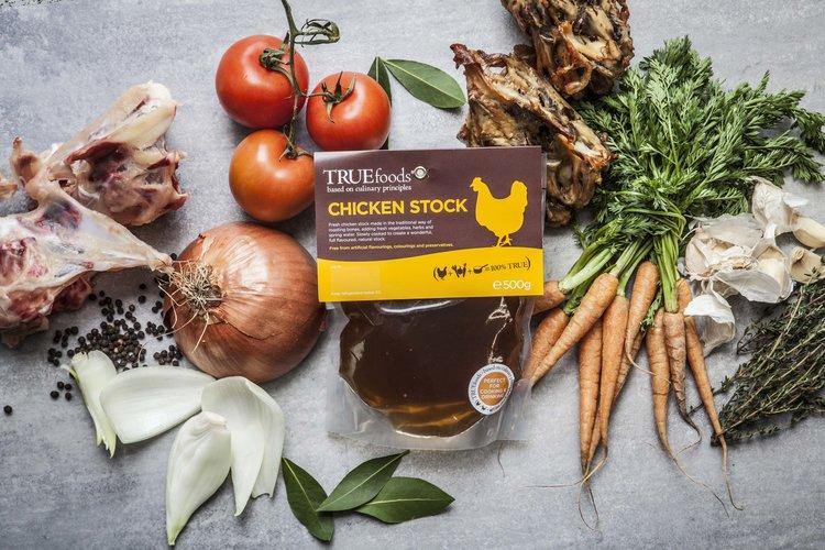 True Foods - Golden Chicken Stock 500g