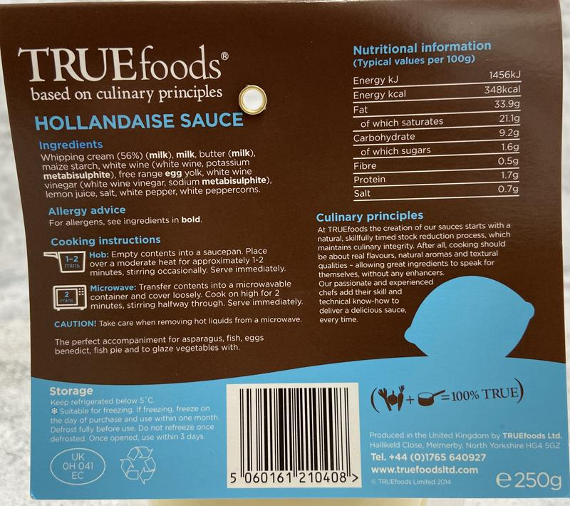 Load image into Gallery viewer, True Foods - Hollandaise Sauce 250g