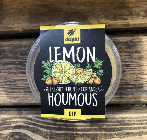 Load image into Gallery viewer, Delphi - Lemon & Freshly Chopped Coriander Houmous 170g