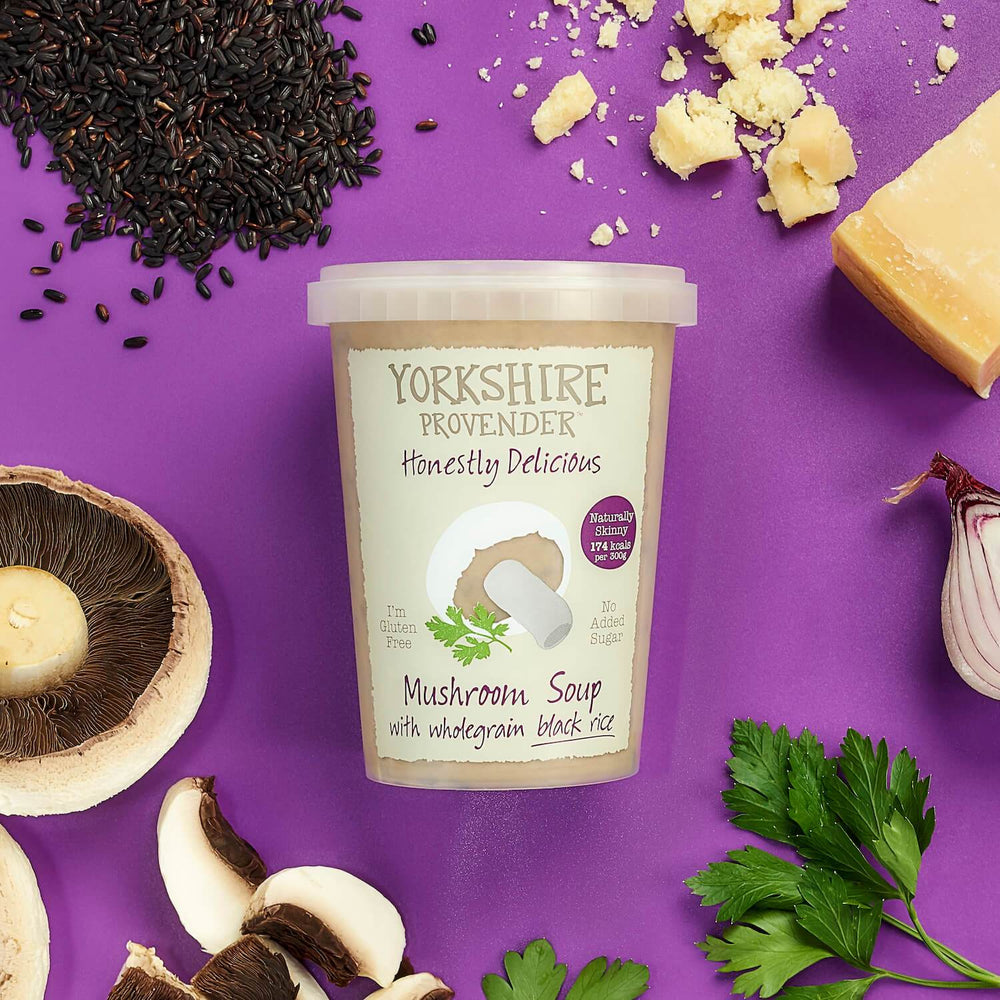 Load image into Gallery viewer, Yorkshire Provender Mushroom & Rice Soup 600g