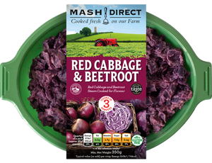 Load image into Gallery viewer, Mash Direct Red Cabbage & Beetroot 350g