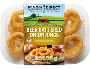 Load image into Gallery viewer, Mash Direct Beer Battered Onion Rings 200g