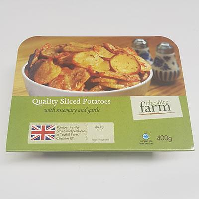 Cheshire Farm Sliced Potato 400g