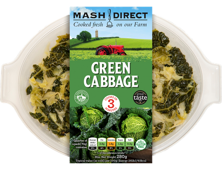Mash Direct Green Cabbage 350g