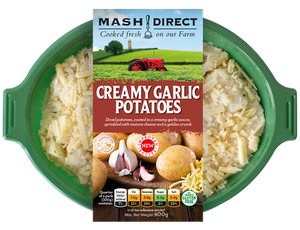 Load image into Gallery viewer, Mash Direct Creamy Garlic Potato 400g
