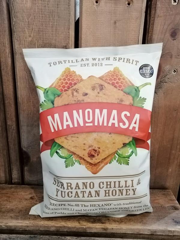 Load image into Gallery viewer, Manomasa Tortillas - Serrano Chilli & Yucatan Honey 160g