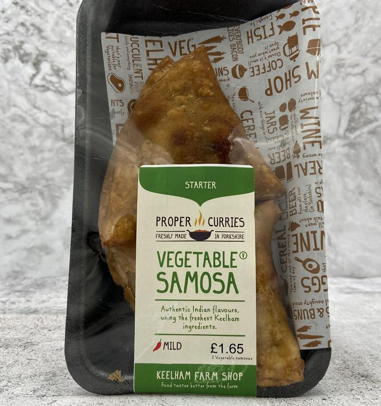 Load image into Gallery viewer, Keelham Proper Curries - Vegetable Samosa 2Pk