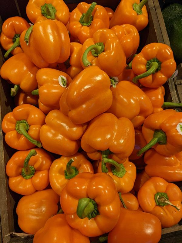 Orange Peppers, per 500g