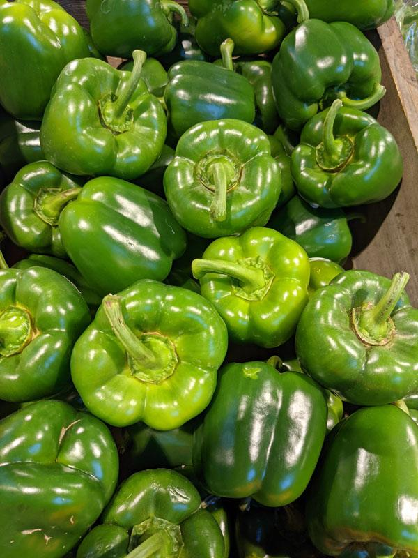Green Peppers, per 500g