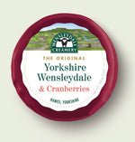 Hawes Wensleydale with Cranberries, 200g, per 200g
