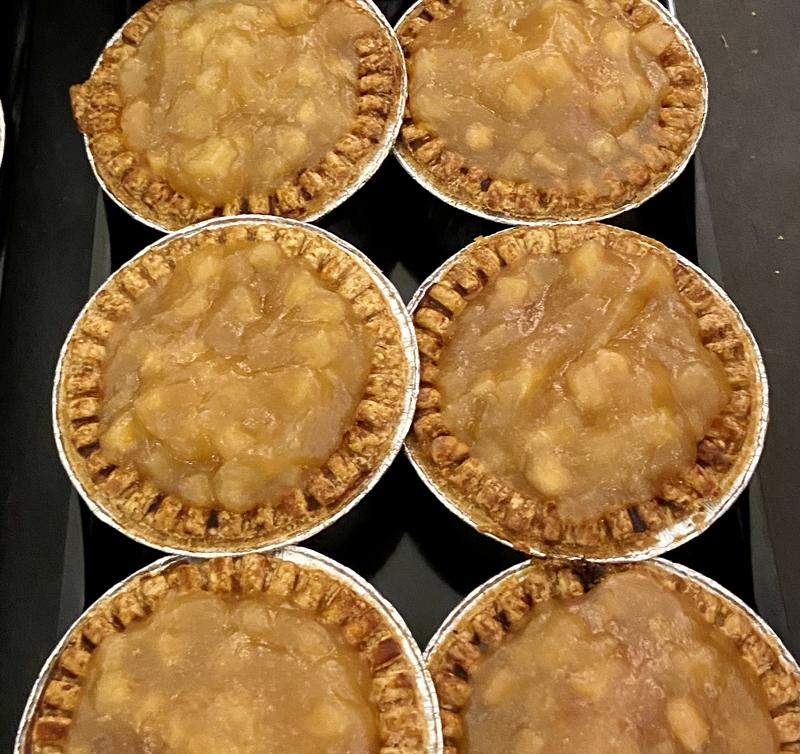 Apple Topped Pork Pie