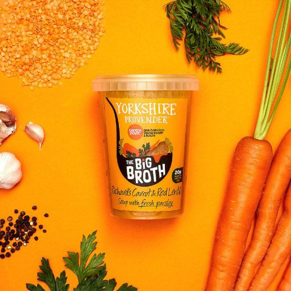 Yorkshire Provender Carrot & Red Lentil Soup 600g