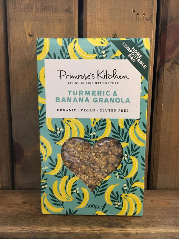 Primrose Kitchen Turmeric and Banana Granola, 300g