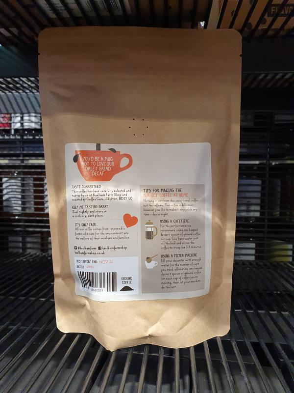 Load image into Gallery viewer, Keelham Dale-y Grind Decaffeinated Coffee 227g