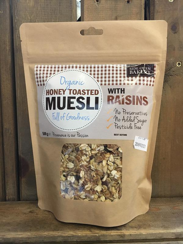 Side Oven Organic Honey Toasted Muesli with Raisins