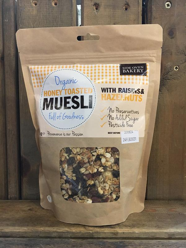 Side Oven Organic Honey Toasted Muesli with Raisins & Hazelnuts
